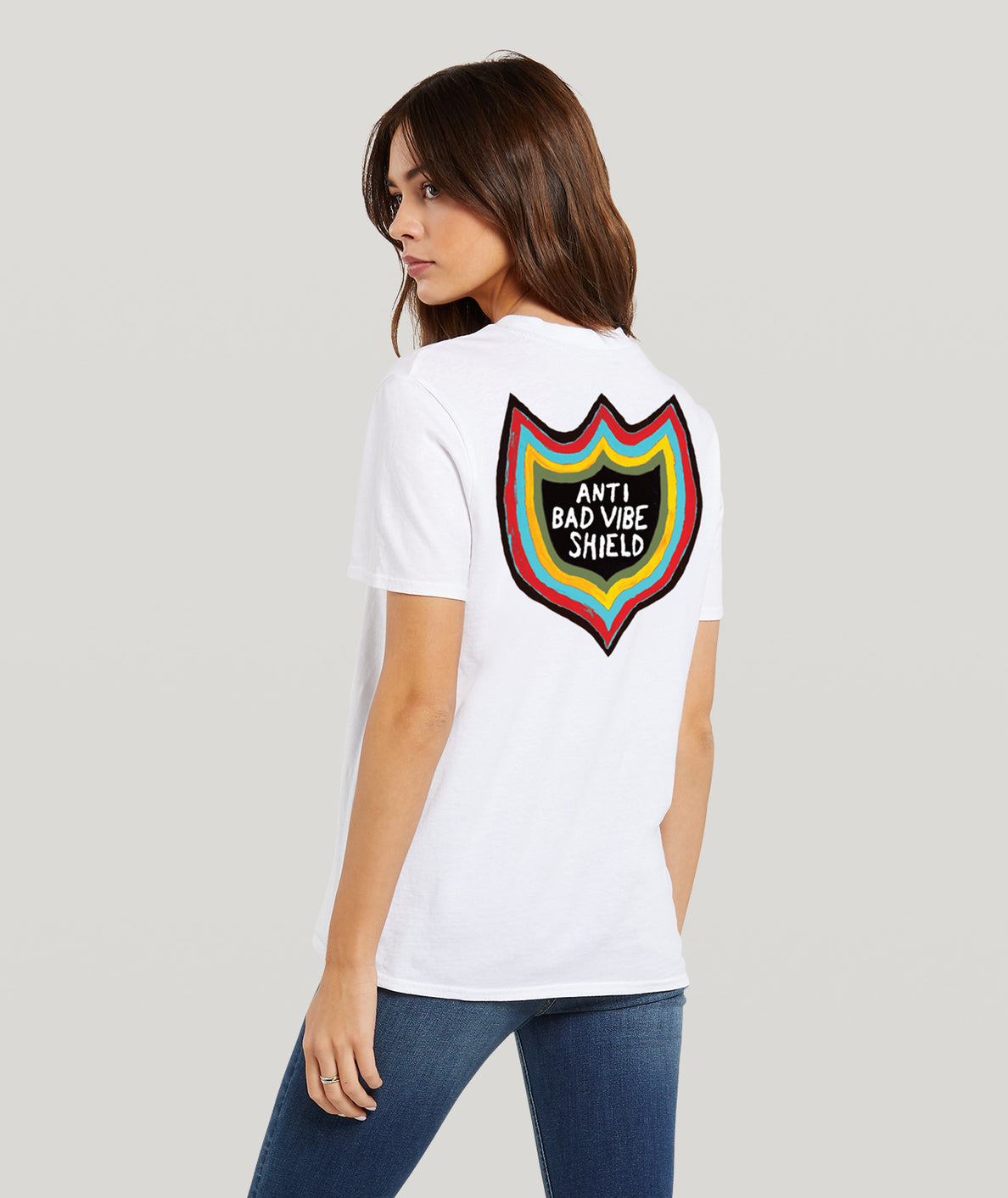 Womens Ozzy Vibes Short Sleeve Tee - White