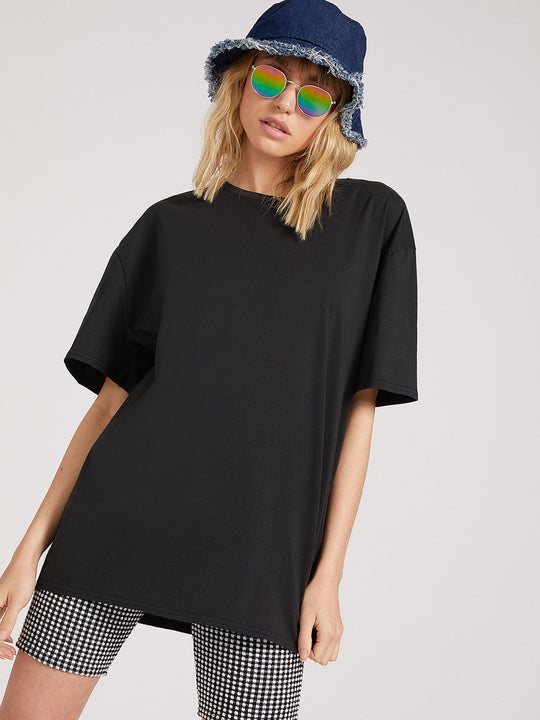 Coco Short Sleeve Tee - Black (B3522007_BLK) [B]