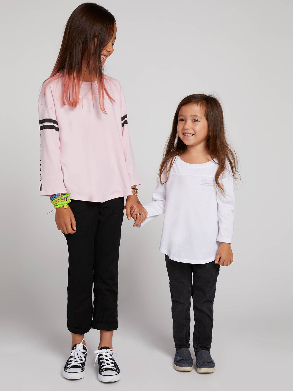 Little Girls Team Vlcm Long Sleeve - White