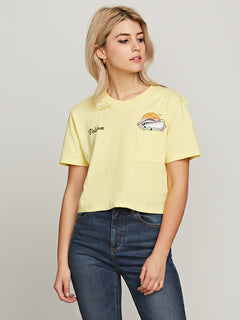 Pocket Dial Tee - Faded Yellow