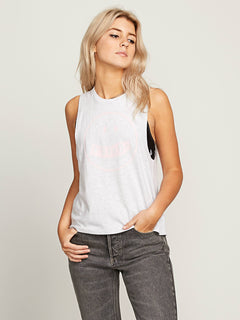 Better Late Tank - Heather Grey