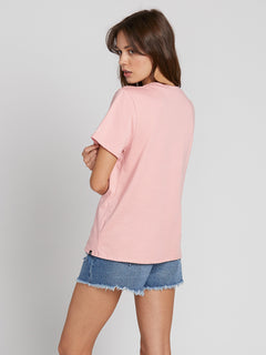 Womens Solid Short Sleeve Tee - Barely Pink