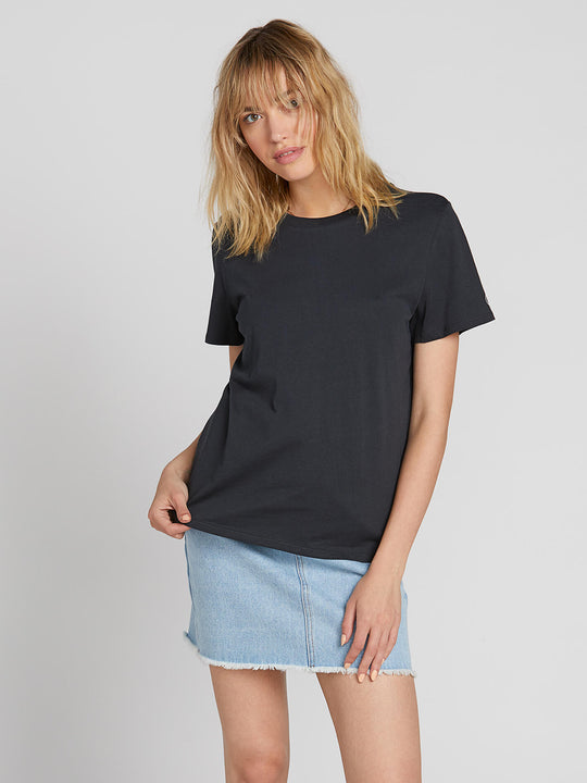 WOMENS SOLID S/S TEE BLACK