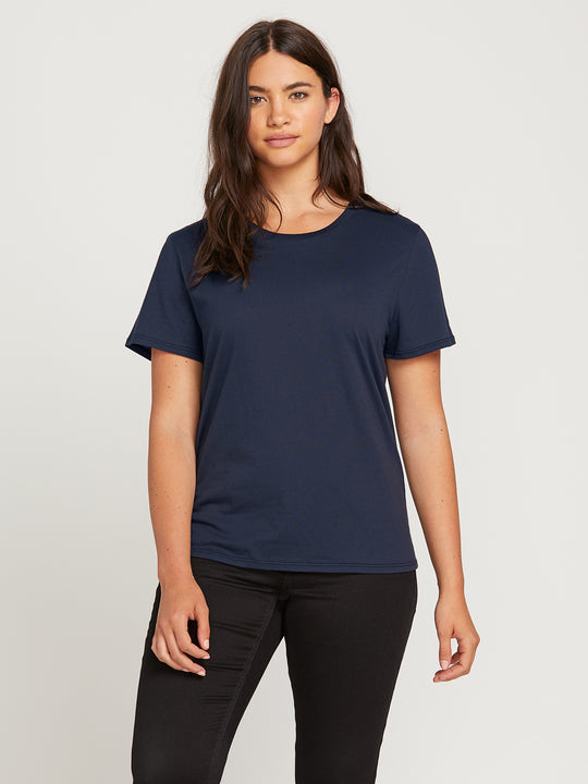 WOMENS SOLID S/S TEE BLUE