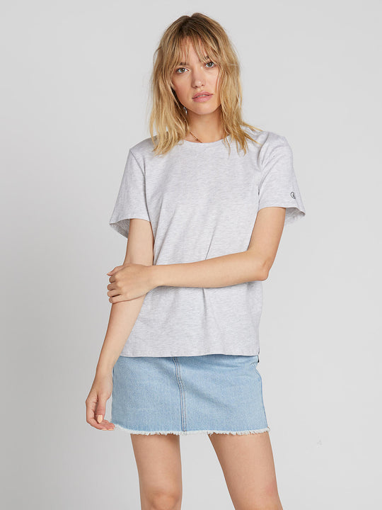 WOMENS SOLID S/S TEE LIGHT GREY