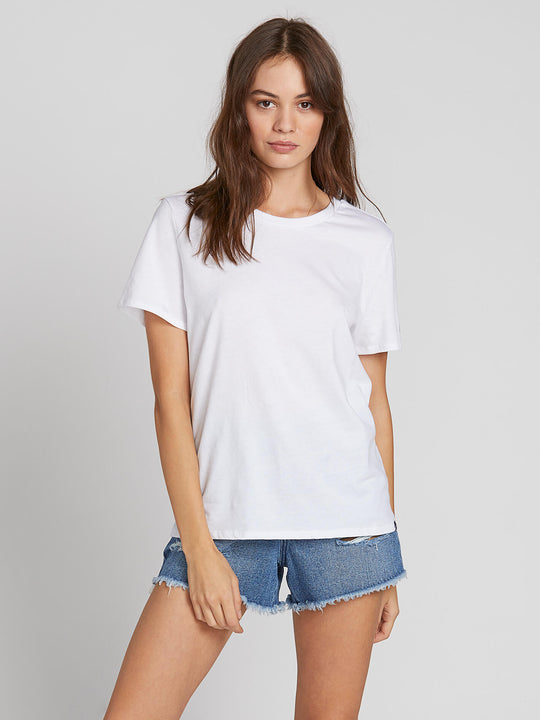 WOMENS SOLID S/S TEE WHITE