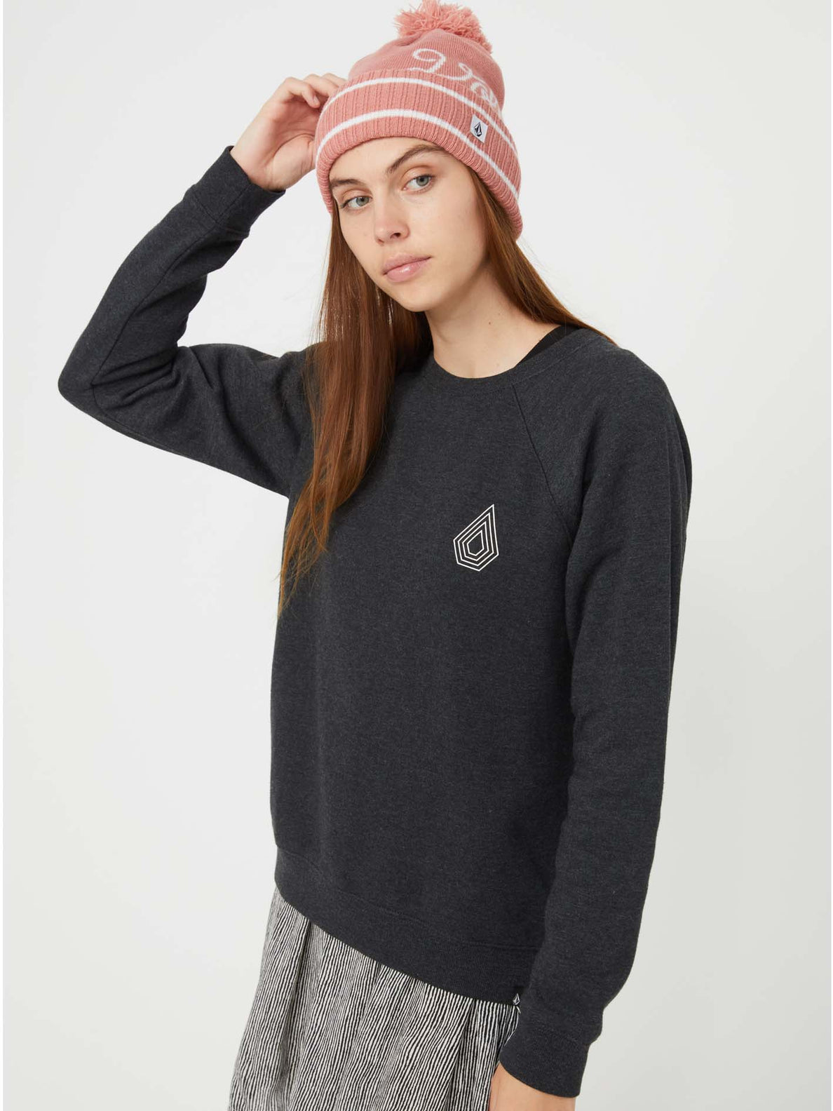 Get More Crew Sweater - Black Combo
