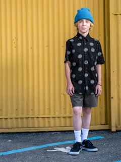 Boys Youth Inner Valley Short Sleeve Shirt - Black (C0432004_BLK) [100]
