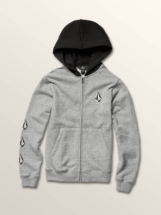 Boys Youth Deadly Stones Zip Hoodie - Storm
