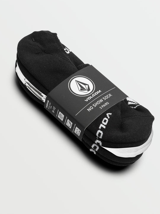 No Stone Show Socks 3 Pack - Black/white