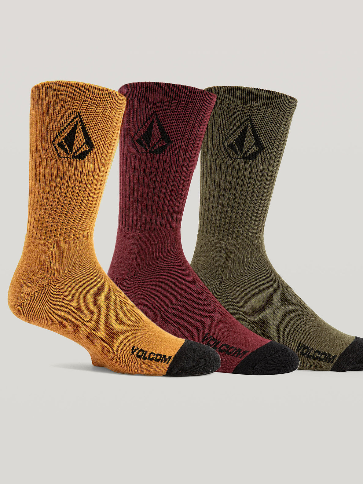 Full Stone Sock 3 Pack - Multicolour