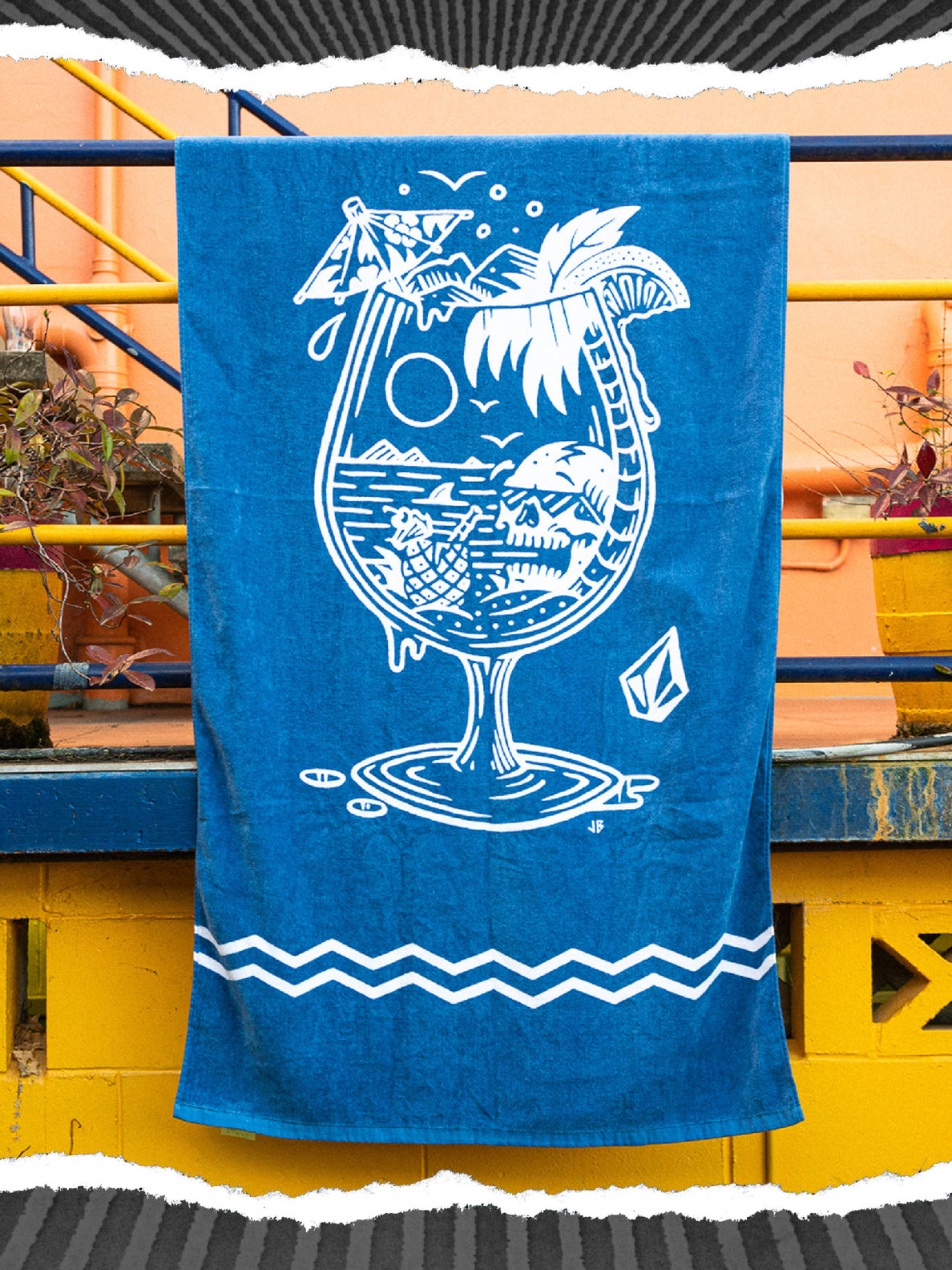 Bar And Chill Towel - Grey Blue
