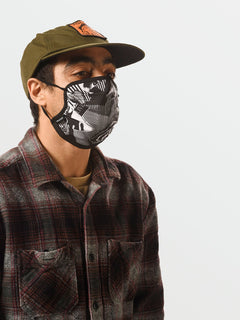 Volcom Assorted Face Mask - White Black