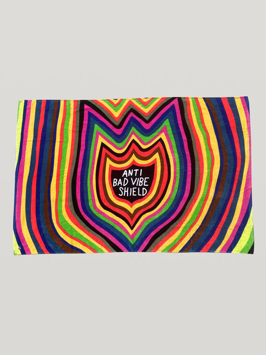 Ozzy 'Anti Bad Vibes' Towel - Multicolour