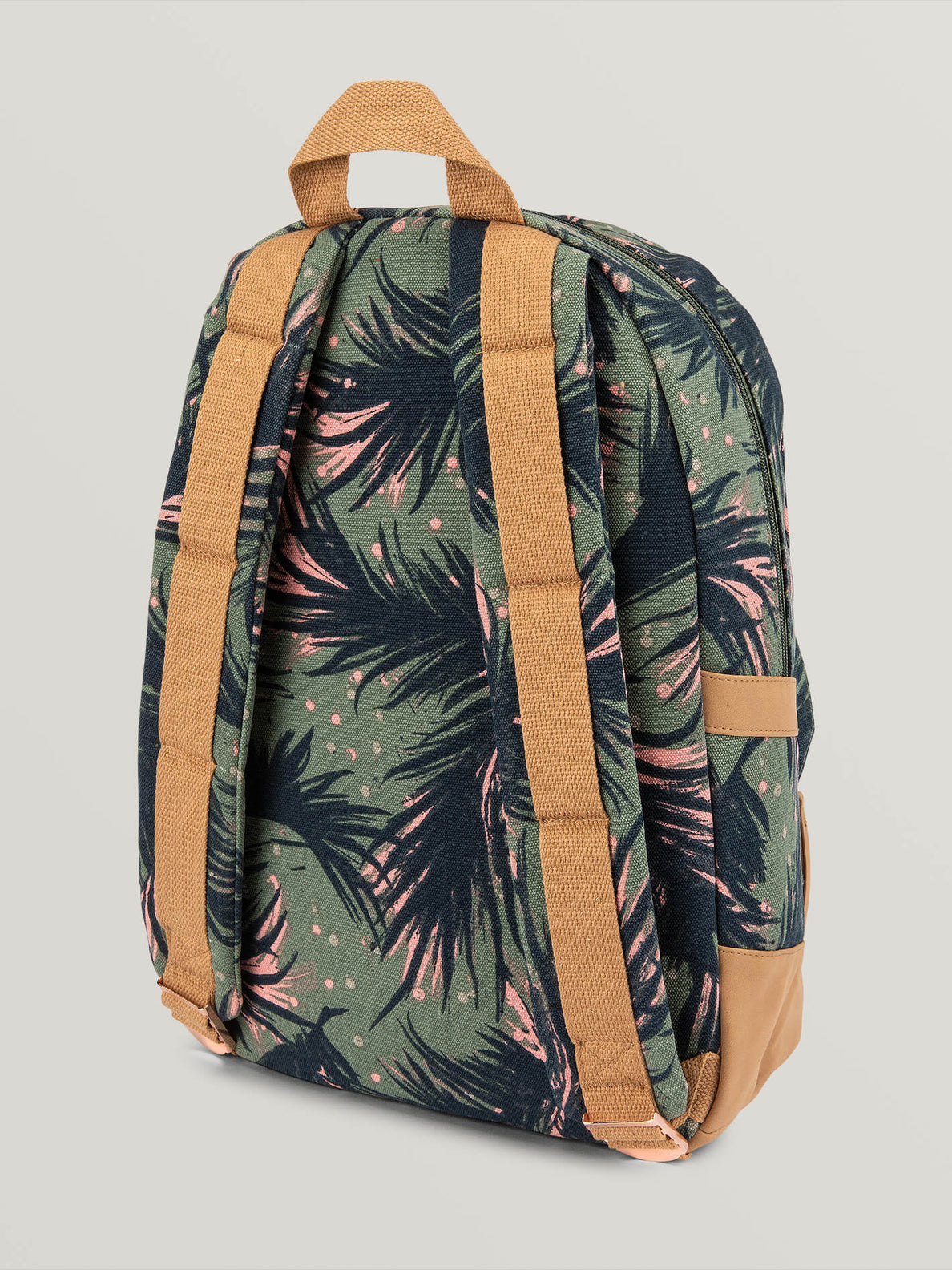 Vacations Canvas Backpack - Army Green (E6531881_ARC) [B]