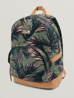 Vacations Canvas Backpack - Army Green (E6531881_ARC) [F]