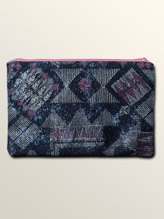 Patch Attack Double Pencil Case - Vintage Navy