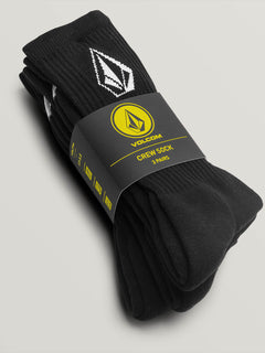 Full Stone Sock 3Pk Youth Black (F6321800_BLK) [3]