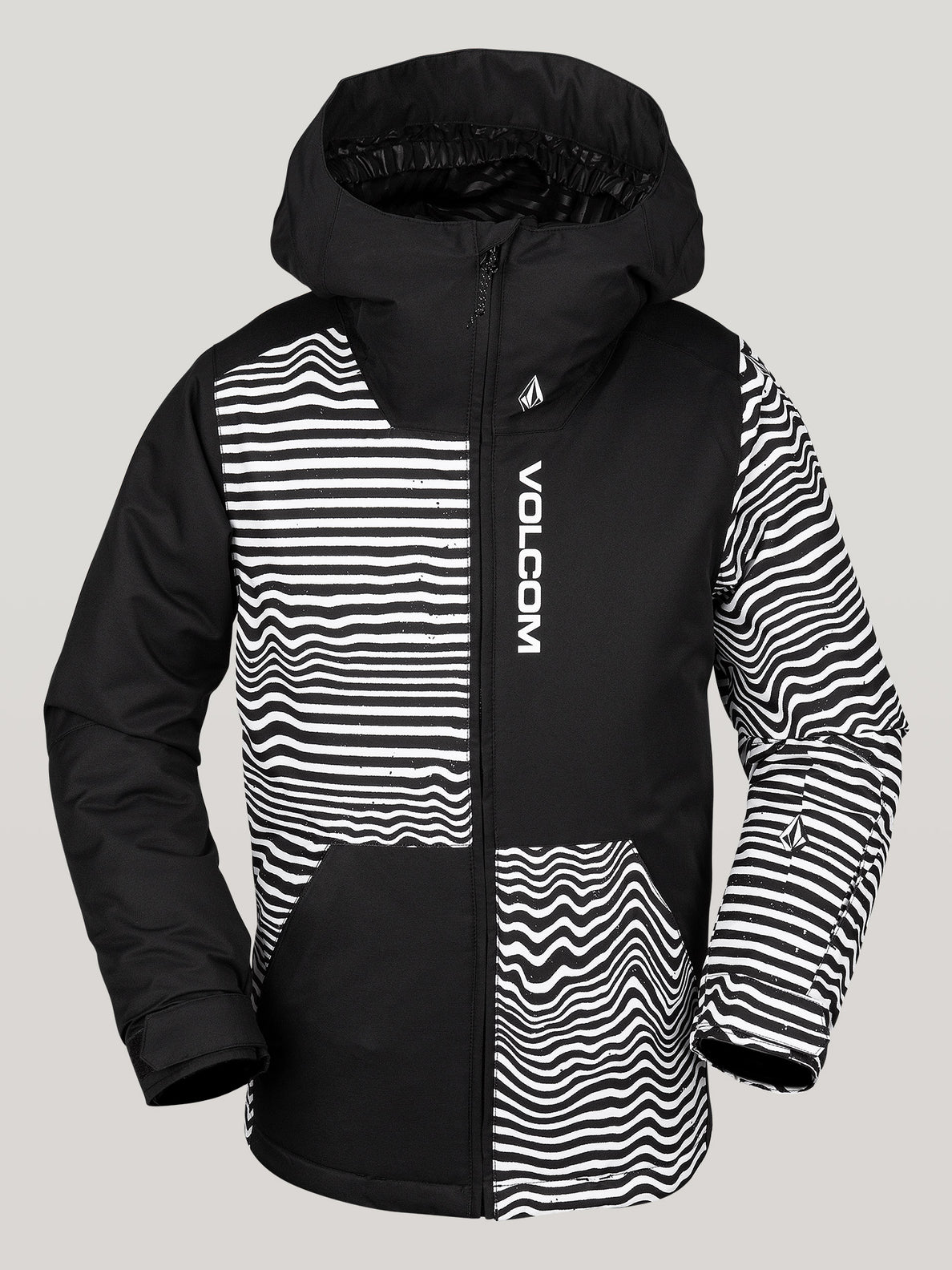 Boys Youth Vernon Ins Jacket - Black Stripe
