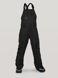 Boys Youth Barkley Bib Overall - Black