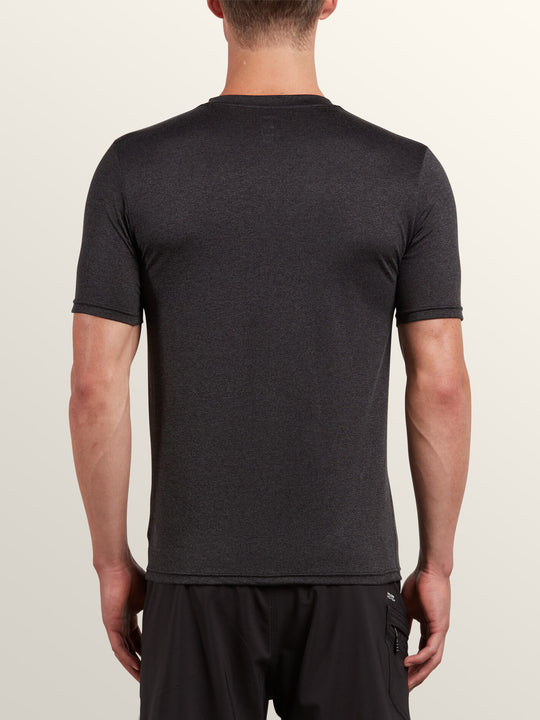 Lido Heather Short Sleeve Rashvest - Charcoal Heather