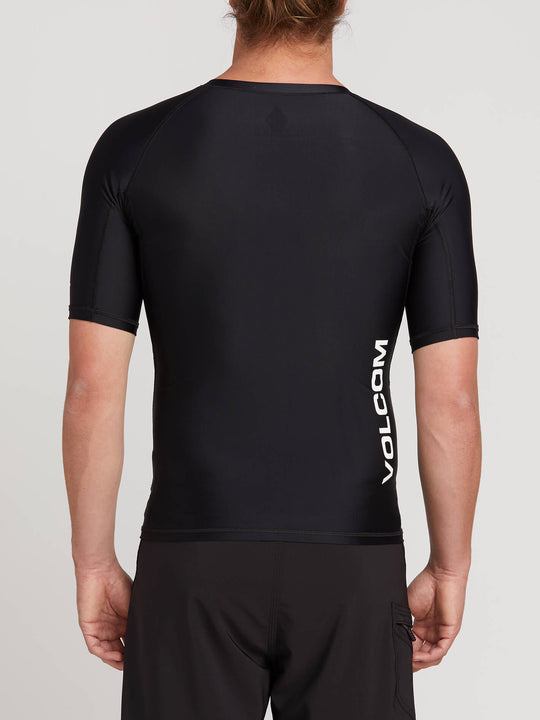 Lido Solid Short Sleeve Rashvest - Black (N0111900_BLK) [B]