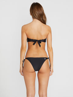 Simply Solid Skimpy Swim Bottoms - Black