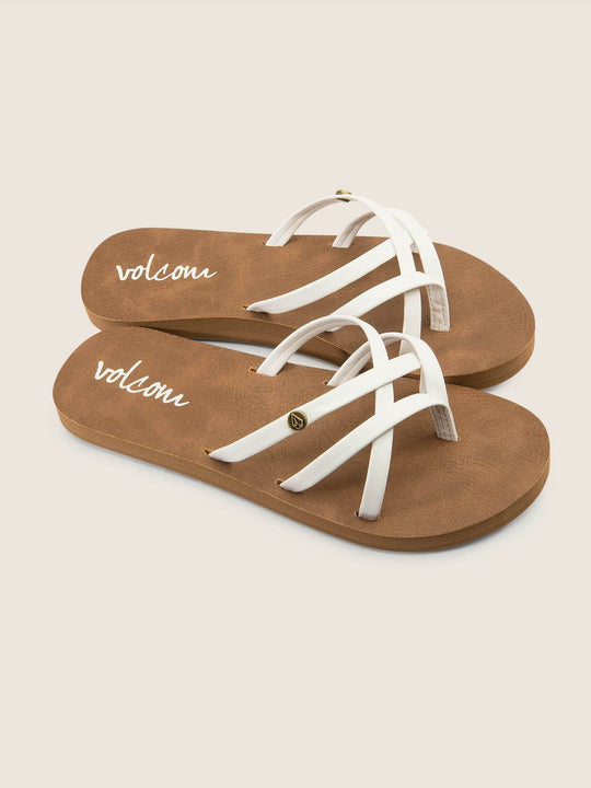 Girls Youth New School Sandals - White