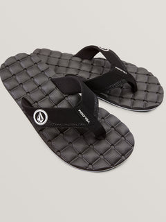 Recliner Sandals - Black/White