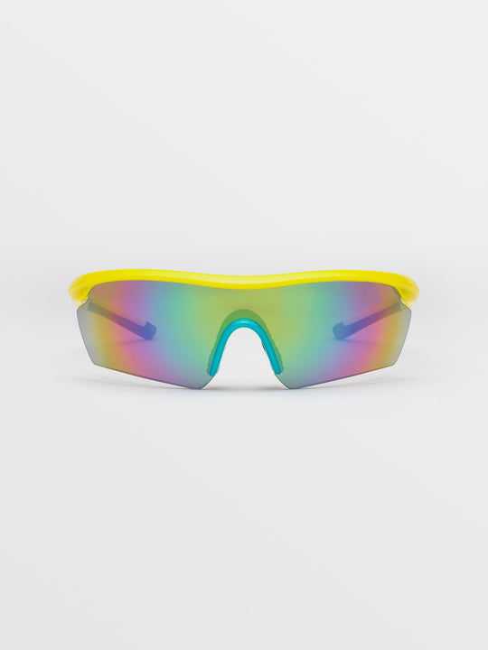 Download - Gloss Yellow/Aqua / Rainbow Mirror