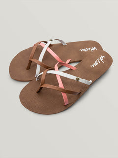 New School Sandals- Coral