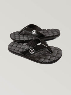Boys Youth Recliner Sandals - Black/White