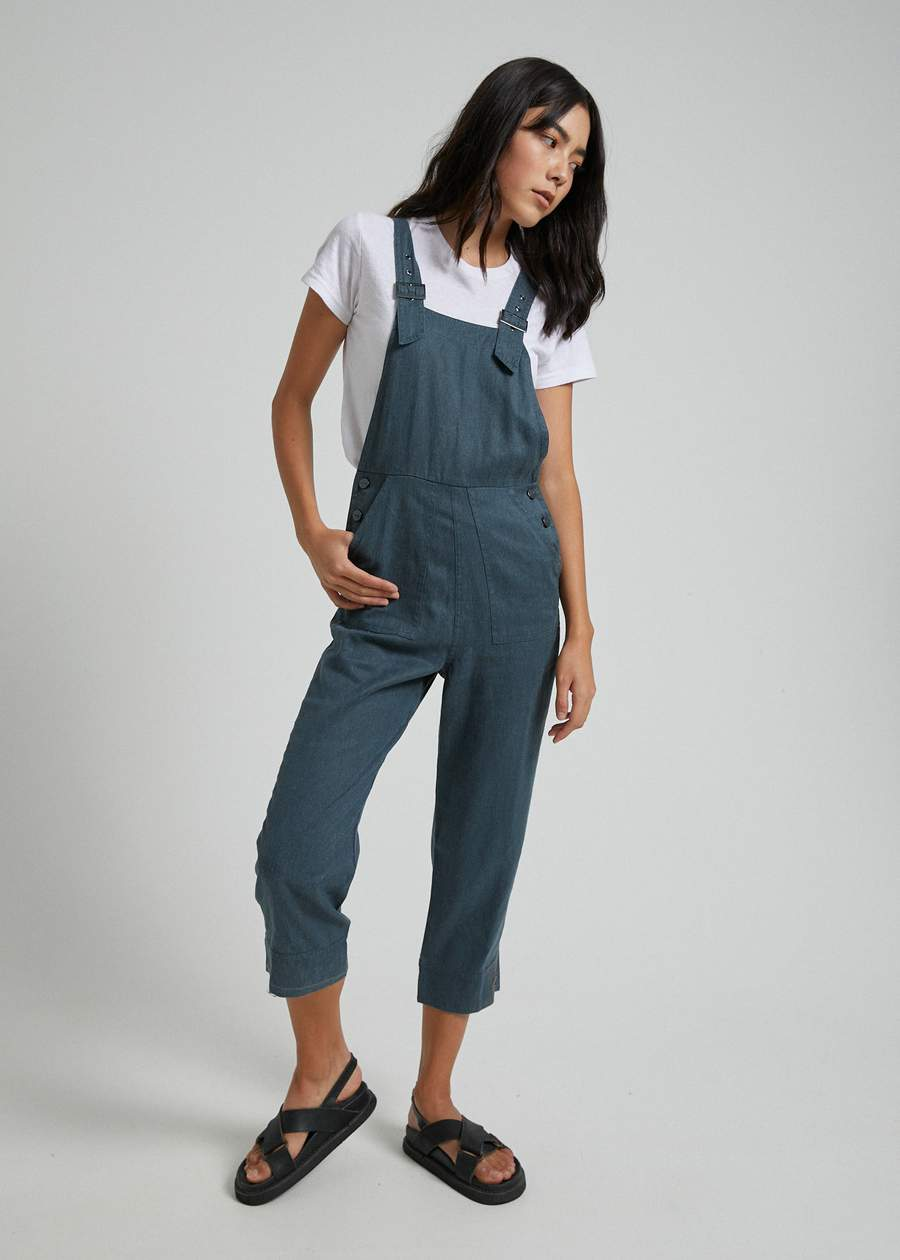 Koko Hemp Long Overall in Slate