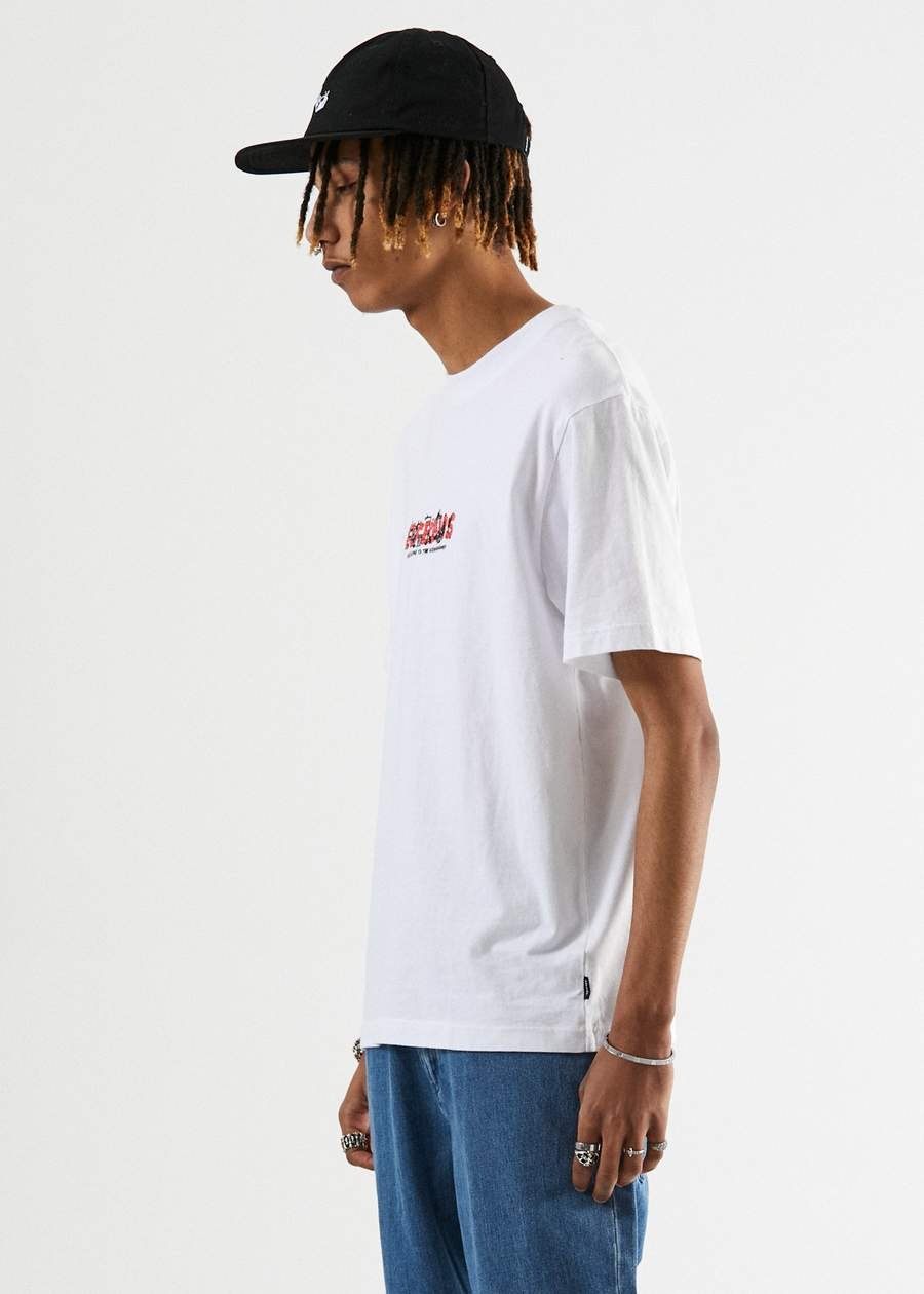 Social Burnout Retro Fit Tee in White