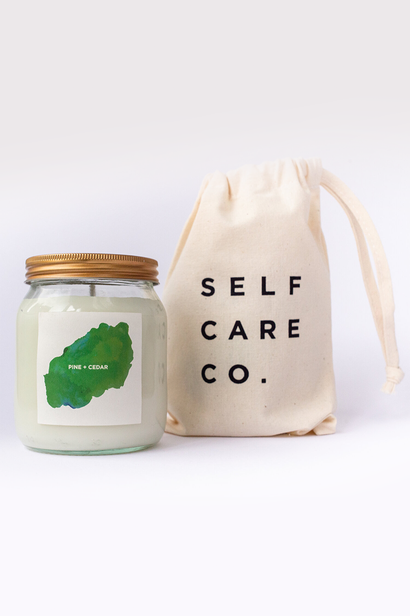 Self Care Co. - Pine and Cedar Wood Aromatherapy Candle