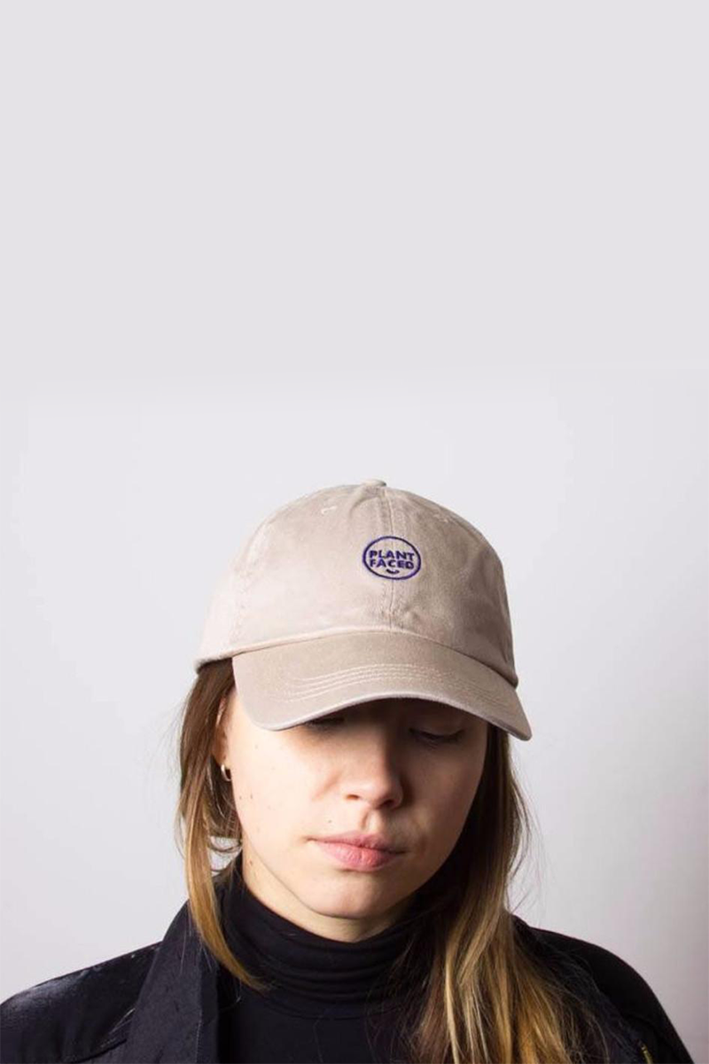 Plant Faced - Dad Hat in Beige Khaki