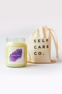 Self Care Co. - Lavender and Orange Aromatherapy Candle