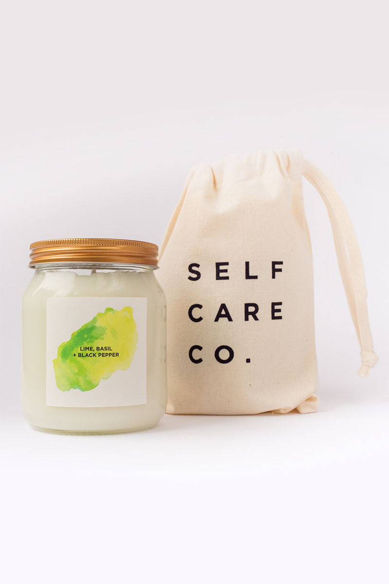 Self Care Co. - Lime, Basil and Black Pepper Aromatherapy Candle