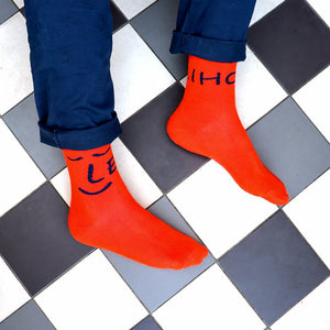 Orange You Kind Bamboo Socks in Orange