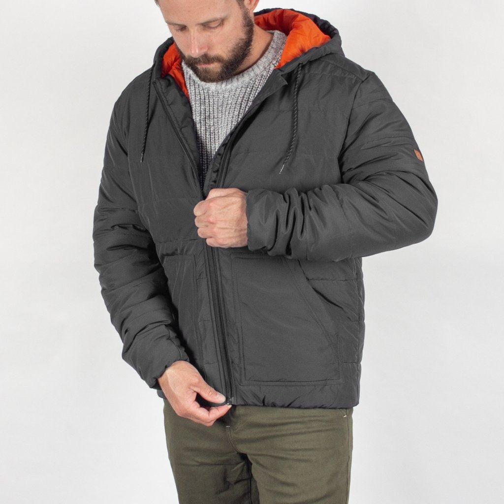Bobcat Insulated Jacket in Charcoal