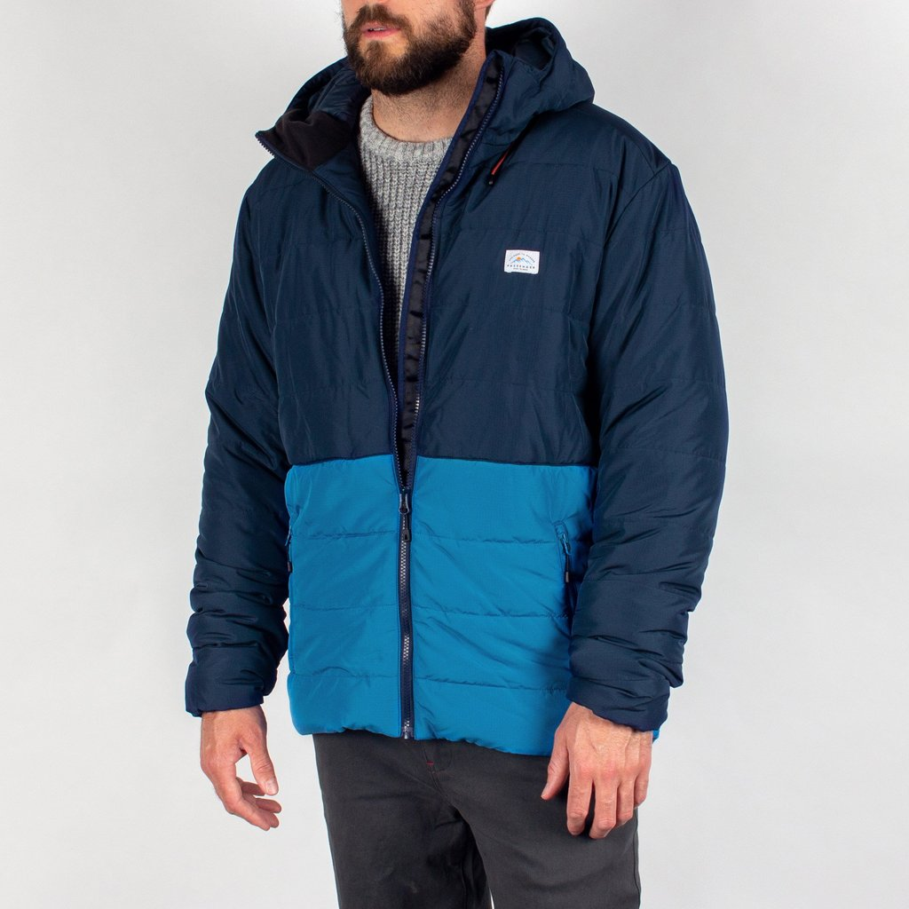 Patrol Recycled & Insulated Jacket in Navy & Deep Water Blue