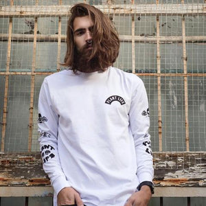 Plant Life Long Sleeve in White