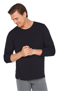 Boody - Long Sleeve T-Shirt in Black