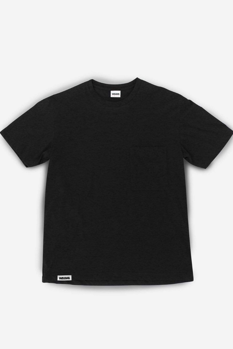 WAWWA - Recycled Pocket T-Shirt in Black