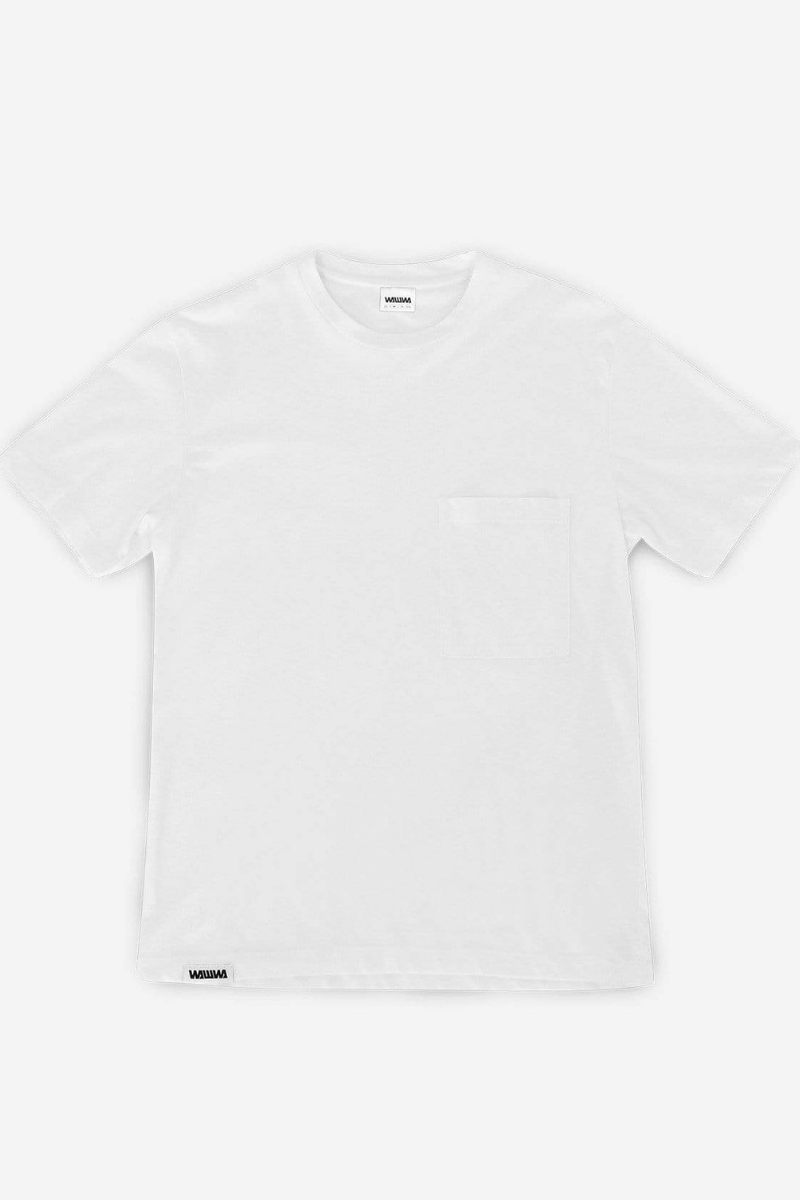 WAWWA - Recycled Pocket T-Shirt in White