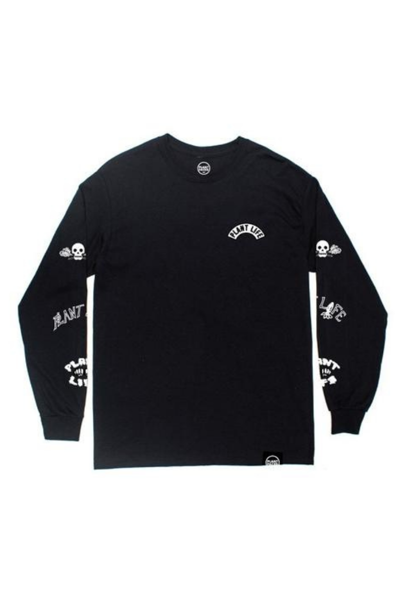 Plant Faced - Plant Life Long Sleeve in Black