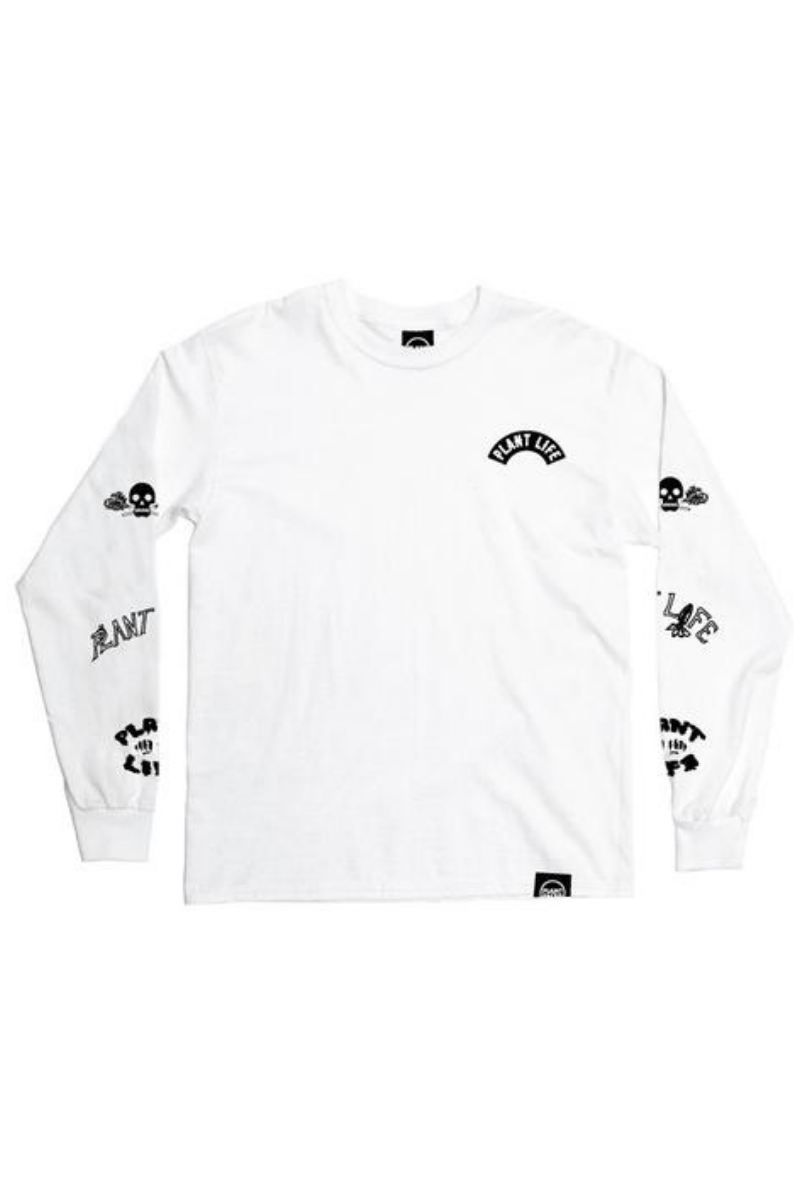 Plant Faced - Plant Life Long Sleeve in White