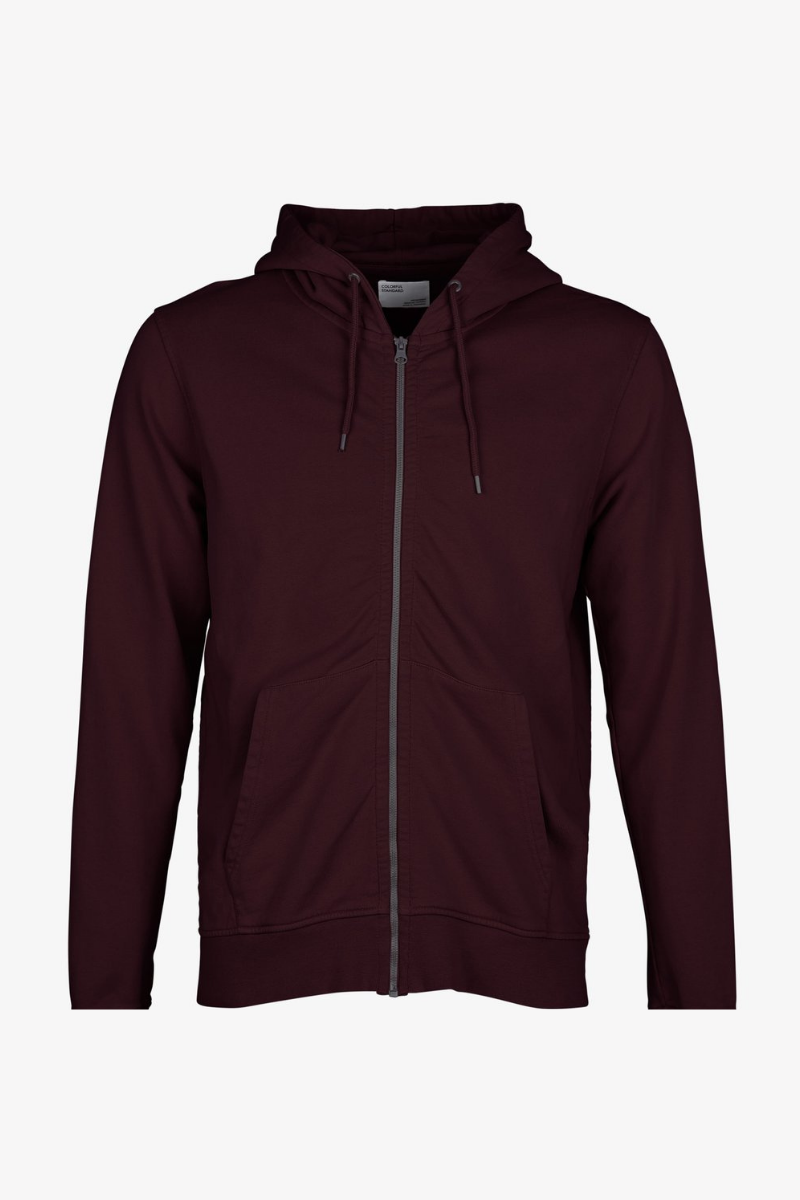 Colorful Standard - Classic Organic Zip Hood Sweat Oxblood Red