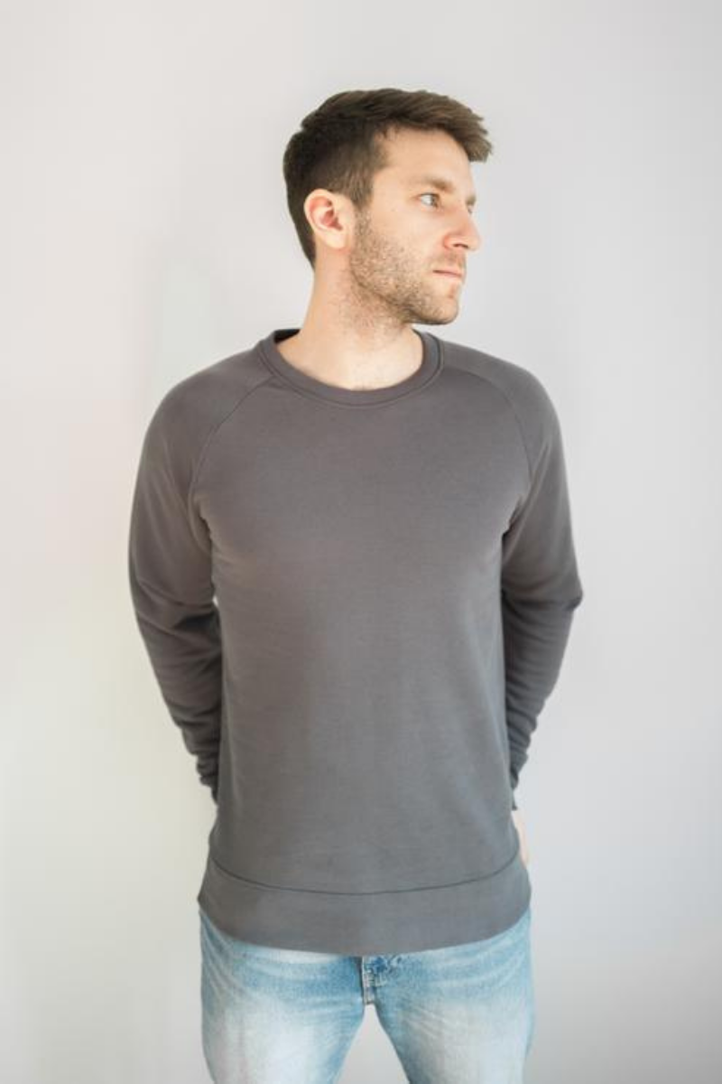 Krixon - Organic Jumper in Anthracite