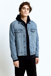 Hoodlamb - Men's Denim Jacket in Light Blue